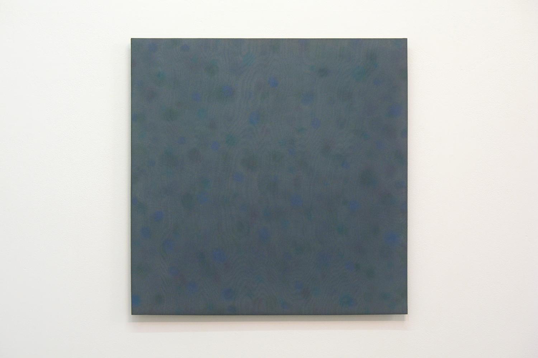 三浦 洋子|YOKO MIURA |Untitled MV|Acrylic board, stainless steel sheet, glass organdy, acrylic paint|60 x 60 cm|2011