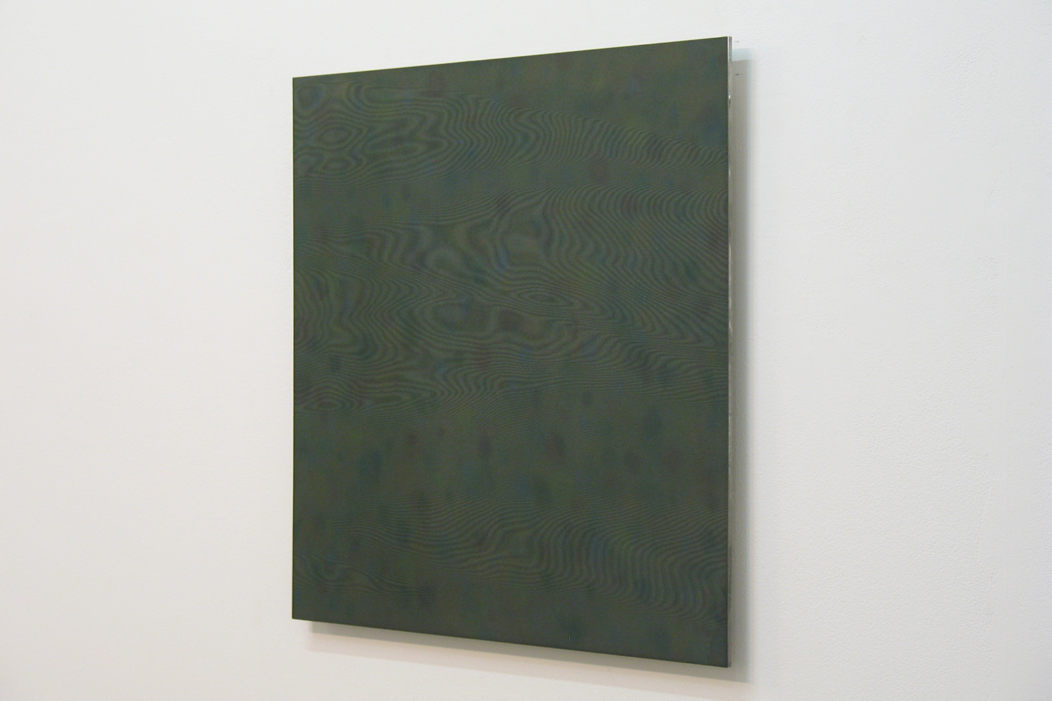 Untitled GY|Acrylic board, stainless steel sheet, glass organdy, acrylic paint|60 x 60 cm|2011