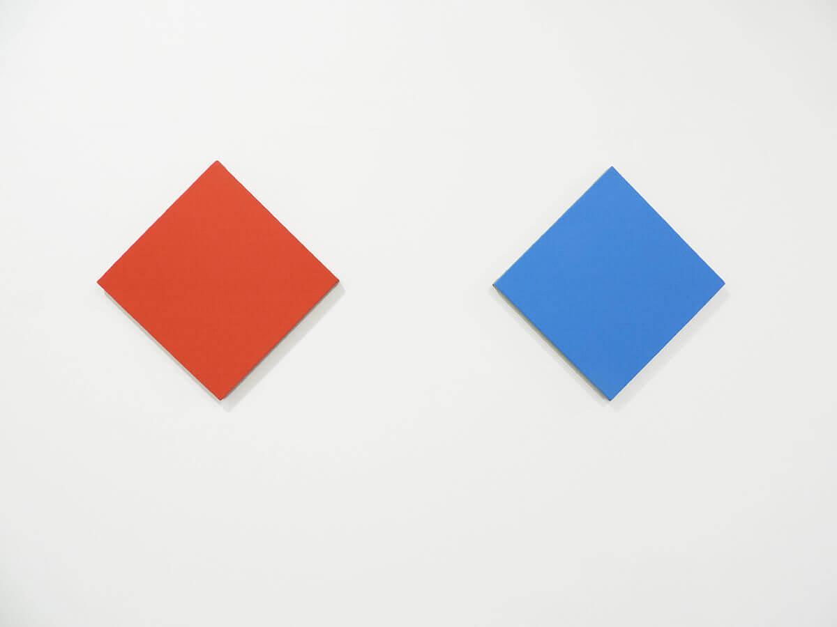 Text No. 1013 / Oil on hemp canvas , 38.5 x 38.5 x 2 cm each , 2014