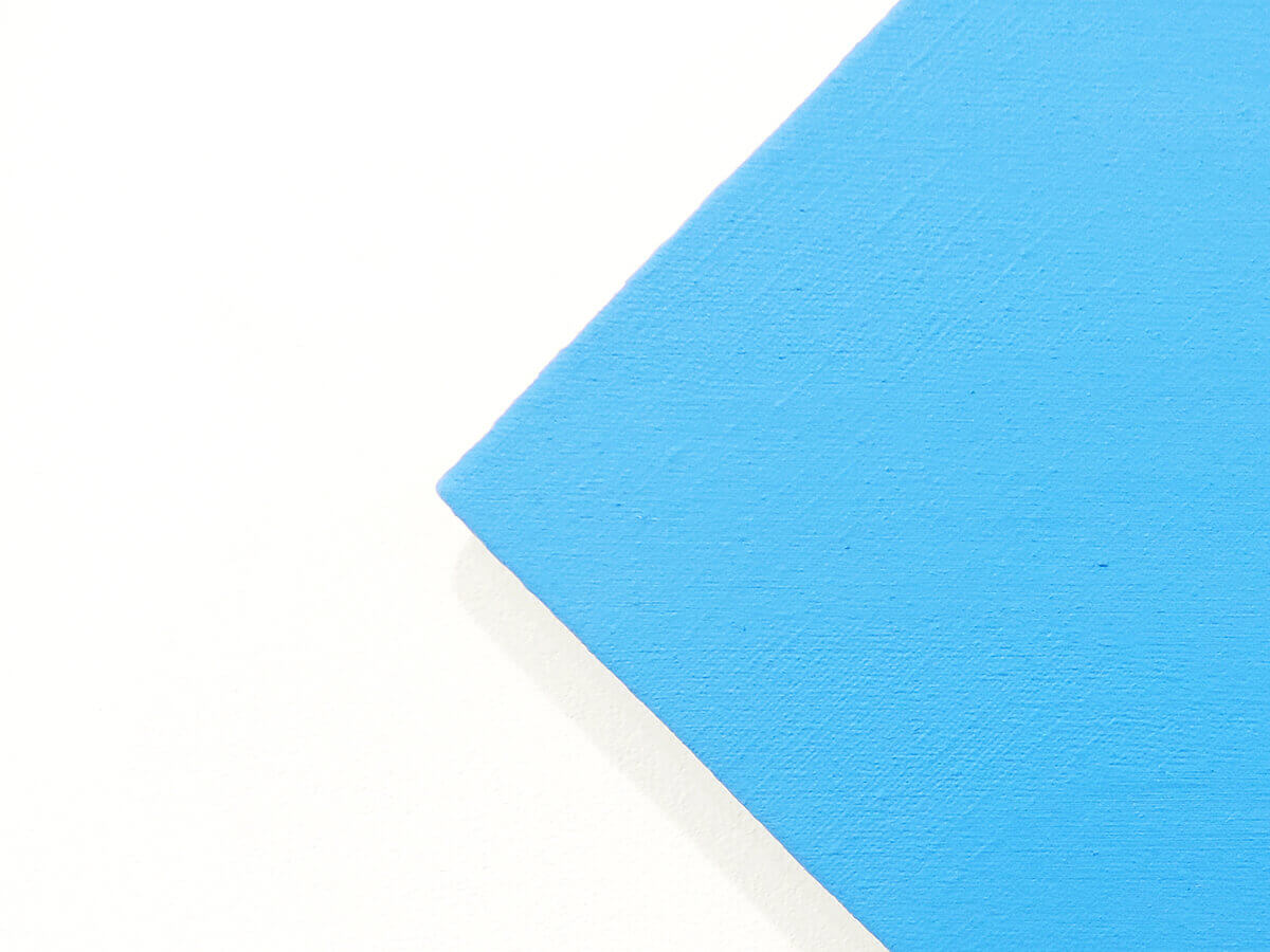 Text No. 1013 / Oil on hemp canvas , 38.5 x 38.5 x 2 cm each , 2014 (detail)
