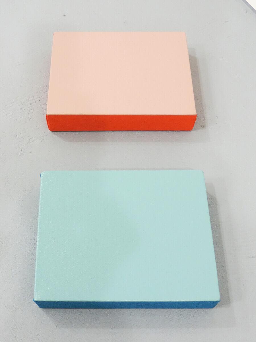 Text No. 1003 / Acrylic on cotton canvas , 18 x 14 x 3.5 cm each , 2014