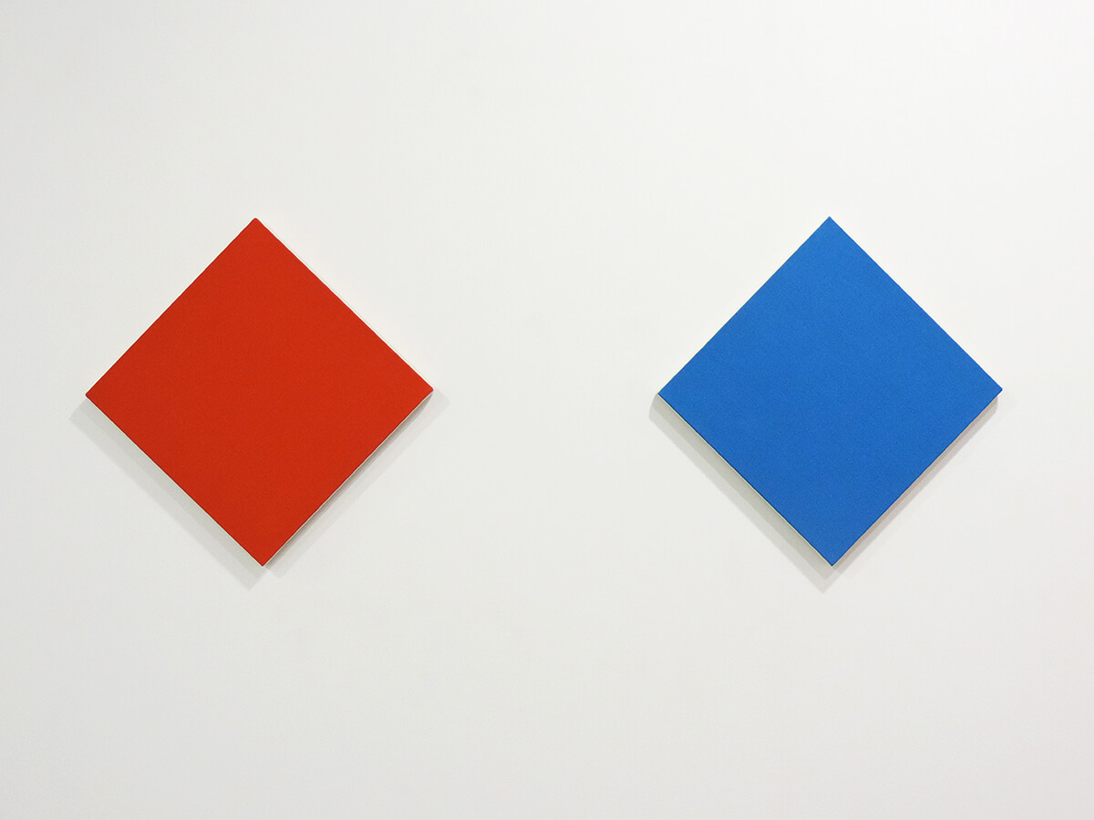 Text No. 1027 / Acrylic, ink on cotton canvas , 38.5 x 38.5 x 2 cm each , 2014