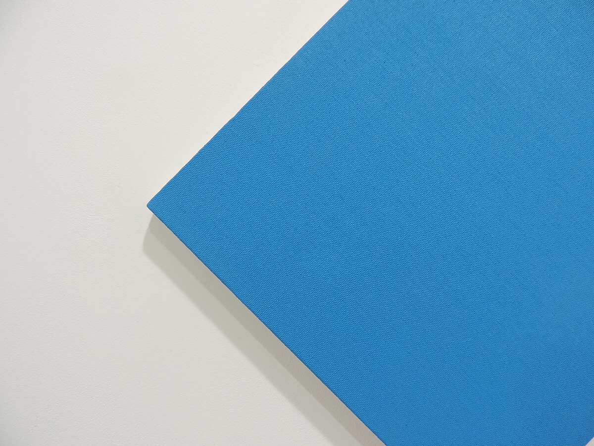 Text No. 1027 / Acrylic, ink on cotton canvas , 38.5 x 38.5 x 2 cm each , 2014 (detail)