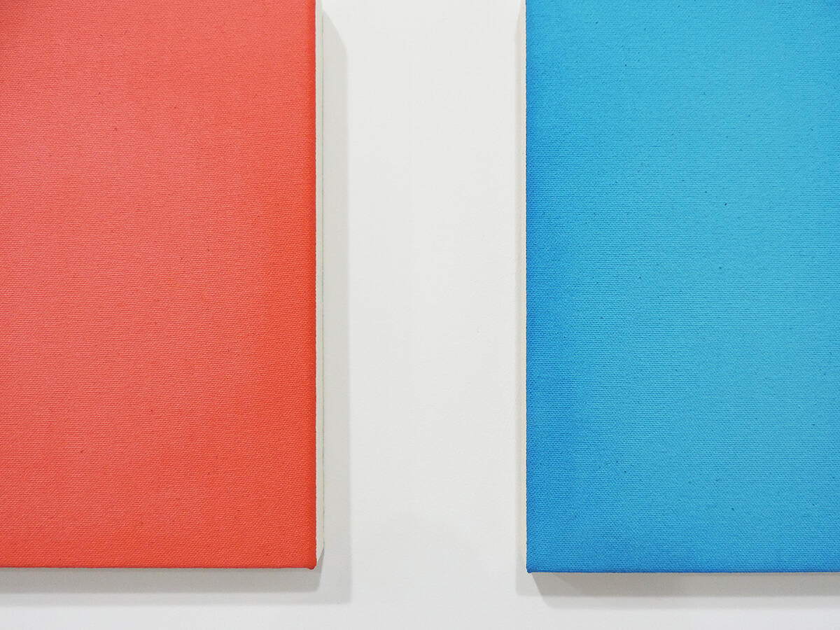 Text No. 969 (light) / Acrylic, ink on cotton canvas , 23 x 19.5 x 2 cm each , 2014 (detail)