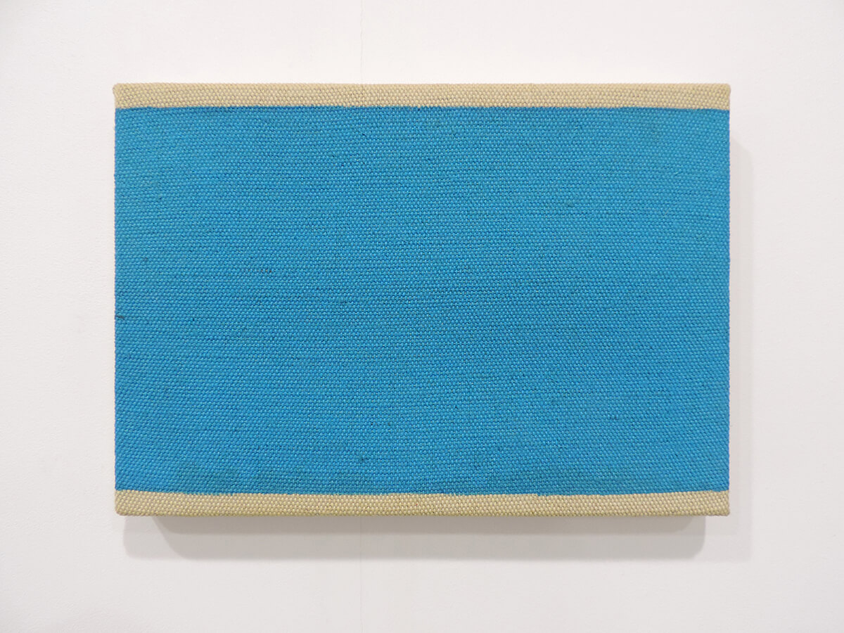 Text No. 1010 / Acrylic, ink on canvas , 16 x 23.2 x 2.3 cm each , 2014