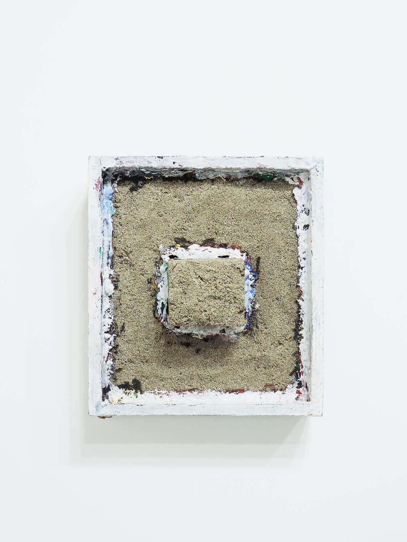 <b>Untitled</b><br>Acrylic, sand wood 25 x 21.5 x 6.2 cm 1985