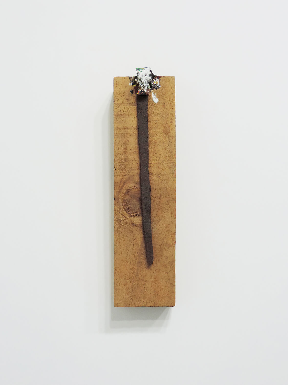 <b>Untitled</b><br>Acrylic on metall, wood 35 × 9.2 × 6 cm 1987