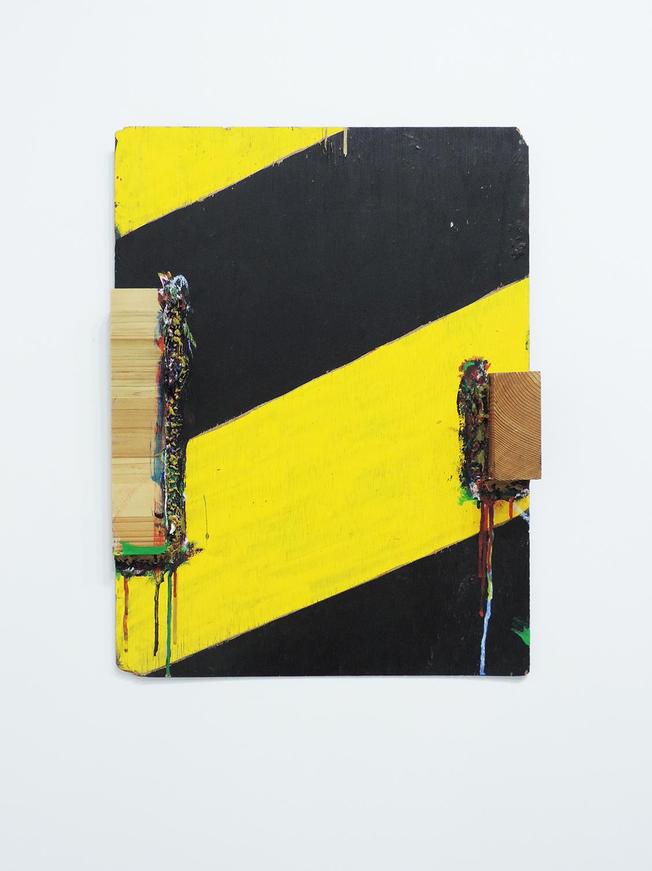 <b>Untitled</b><br>Acrylic on wood, nail 53 x 39 x 5 cm 2011