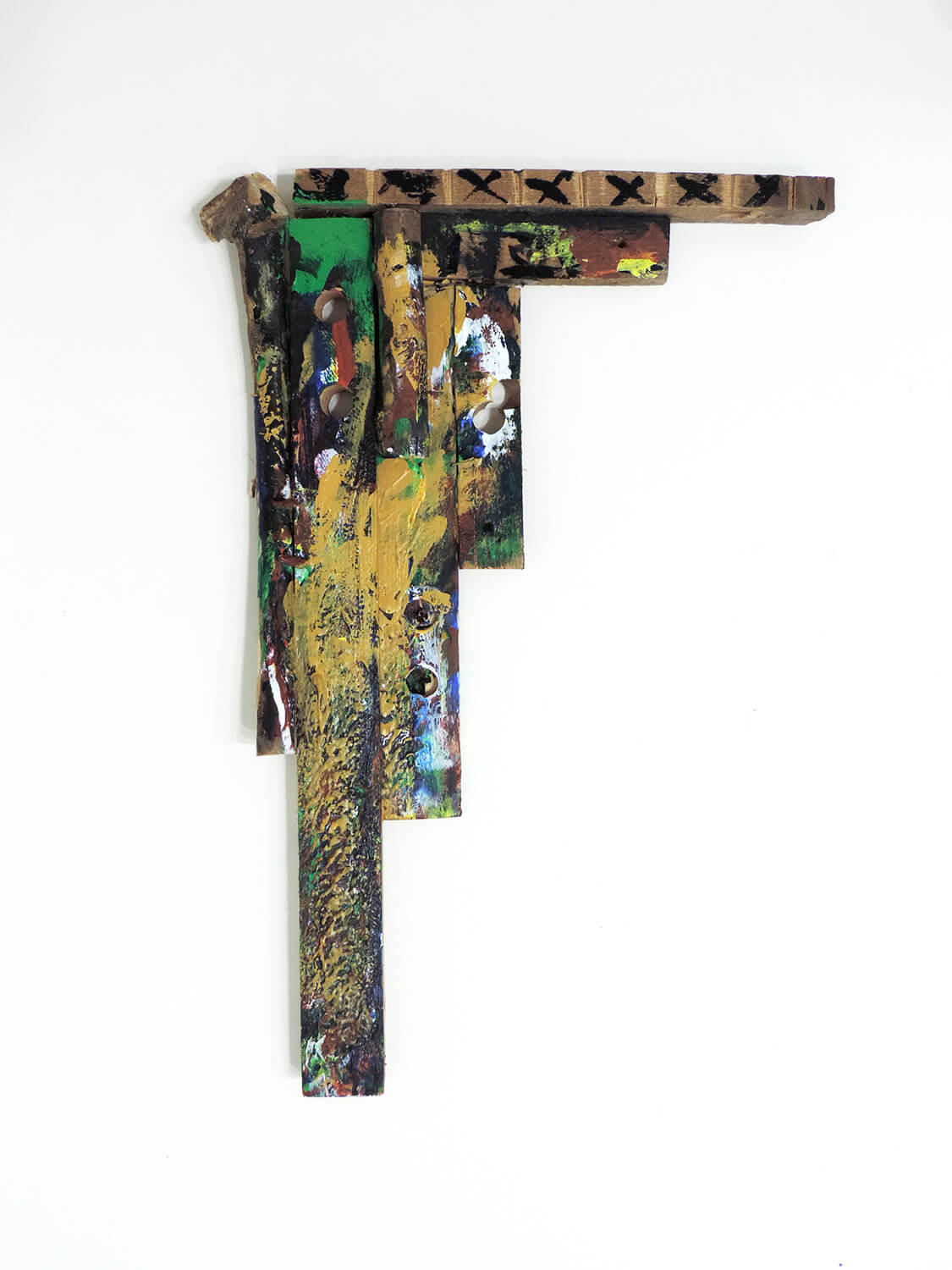 <b><br>Untitled</b><br>Acrylic on wood, stables 50.1 × 35.3 × 5.5 cm 2011