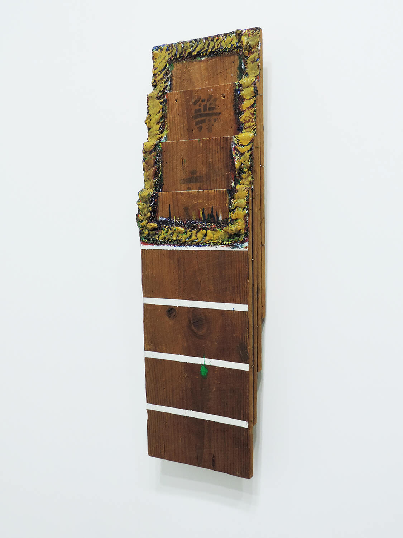 <b>Untitled</b><br>Acrylic on wood, stables 65 x 18 x 7.5 cm 2011