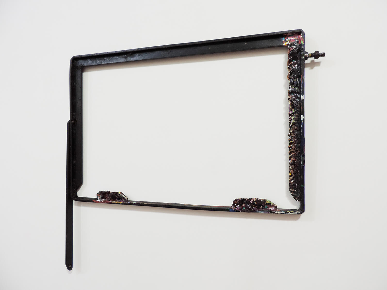 <b>Untitled</b><br>acrylic paint on metal 52 x 56 x 2 cm 2013