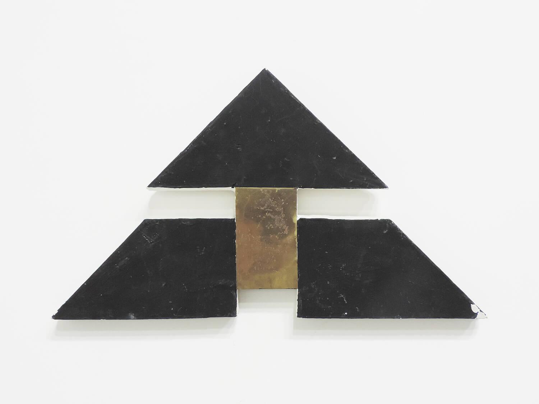 <b>Untitled</b><br>paint, metal, wood 16.4 × 29.2 × 1.7cm 1977