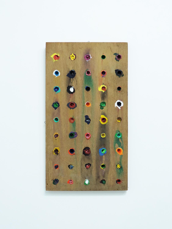 <b><br>Trusim / あたりまえのこと</b><br>Acrylic on wood 48 × 26.4 × 1.7 cm 1978