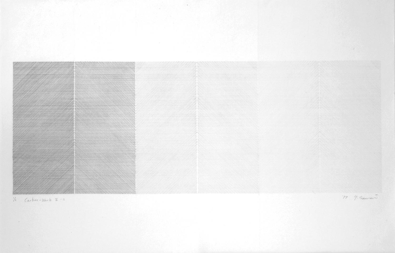 Carbon-Work II-4|Carbon paper, Japanese paper|60 x 90 cm|1977