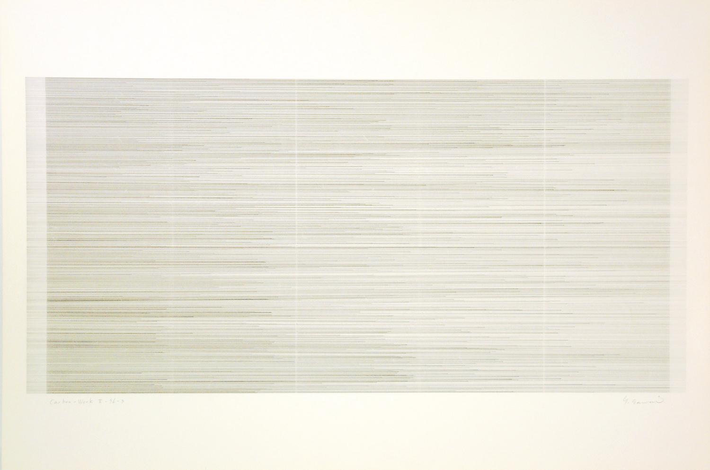 Carbon-Work II-76-3 Carbon paper, Kent paper 60 x 90 cm 1976