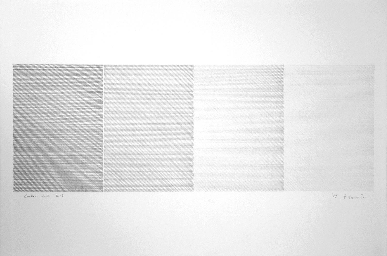 Carbon-Work II-9|Carbon paper, Kent paper|60 x 90 cm|1977