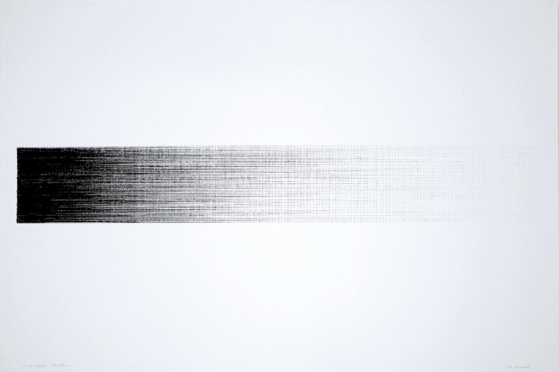 Line-Work V-79-1 Crayon on Kent paper 60 x 89.6cm 1979
