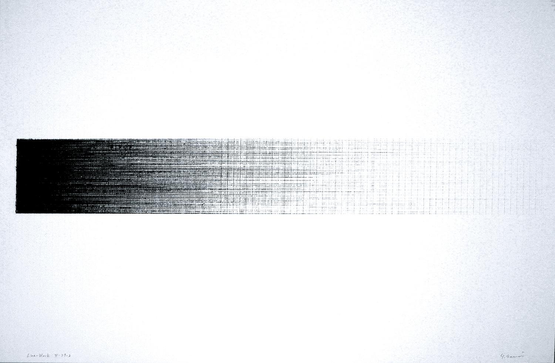 Line-Work V-79-2|Crayon on Kent paper|60 x 89.6 cm|1977