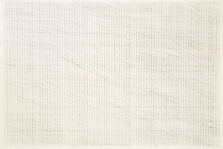 Line-Work VI-78-11 Crayon on Kent paper 60 x 90 cm 1978