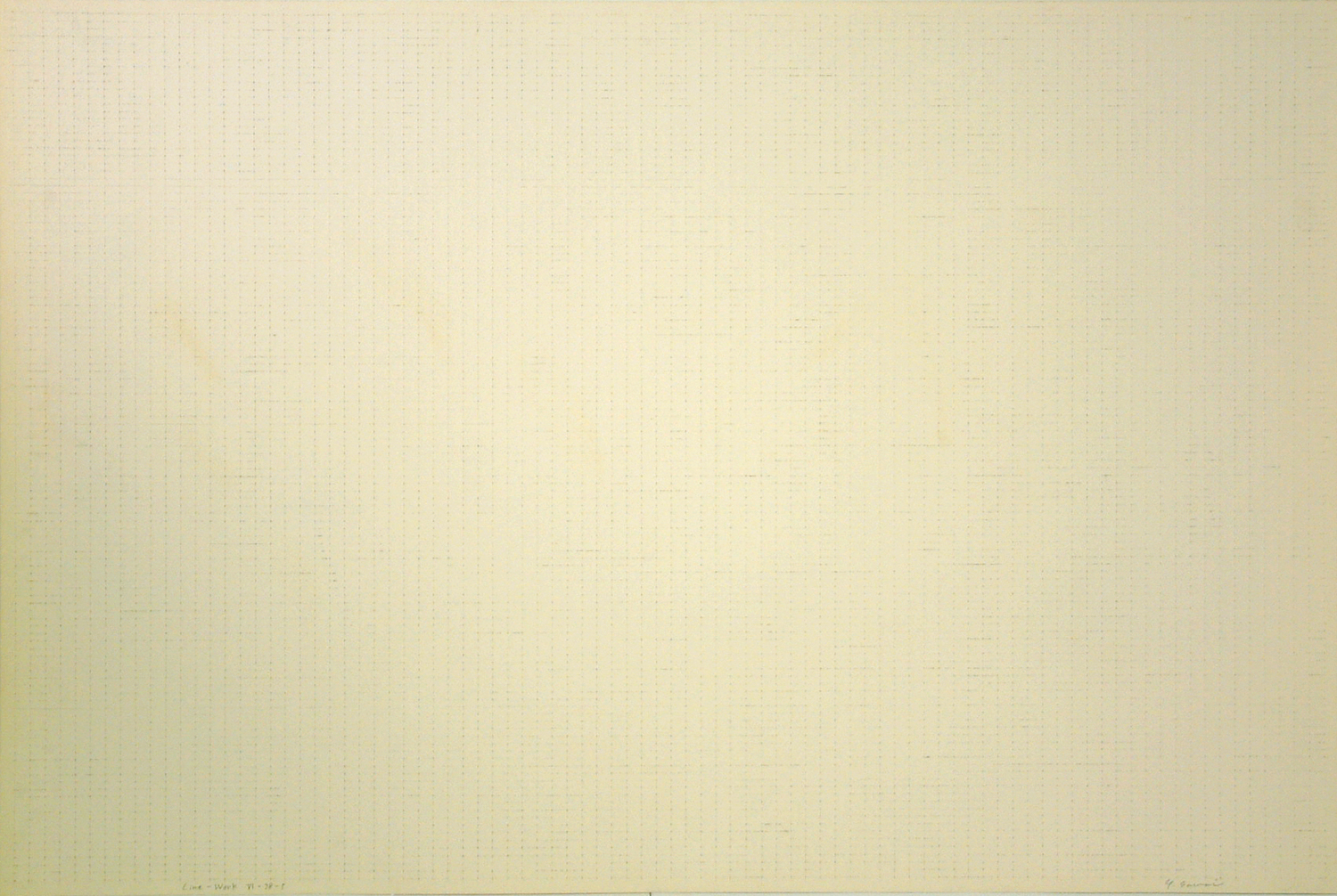 Line-Work IV-78-5|Acrylic, pencil on paper|60 x 89.6 cm|1978