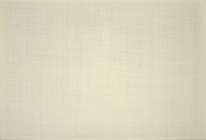 Line-Work VI-79-16 Crayon on Kent paper 60 x 90 cm 1979