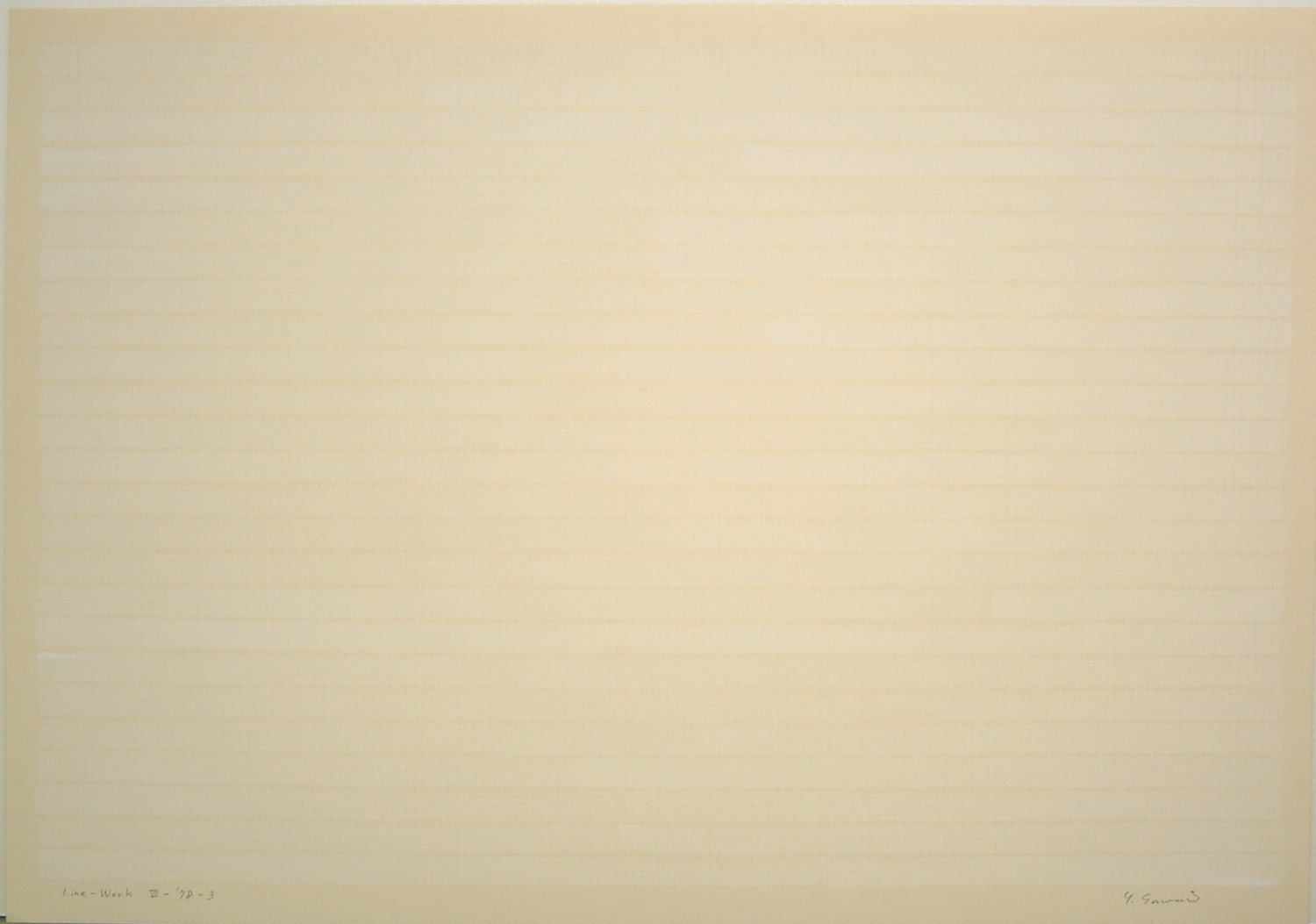 Line-Work VII-78-3|Acrylic, pencil on paper|54 x 78 cm|1978