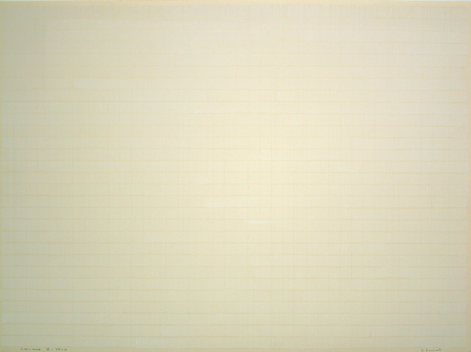 Line-Work VII-78-4|Acrylic, pencil on paper|60 x 81.3 cm|1978