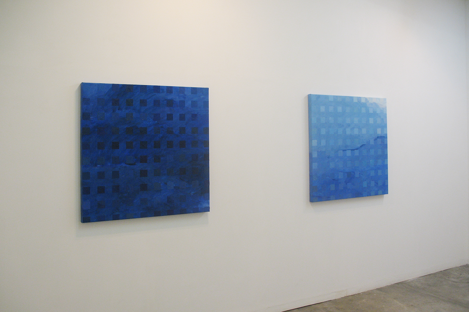 Installation view: Color-Work|oil on canvas|90 x 90 cm|2006 each