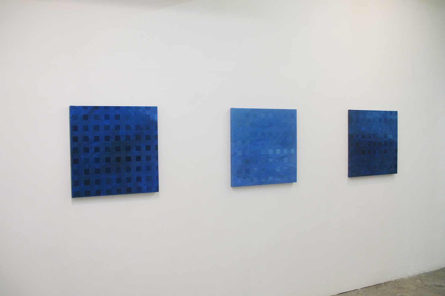 Installation view: Color-Work|oil on canvas|60 x 60 cm|2006 each