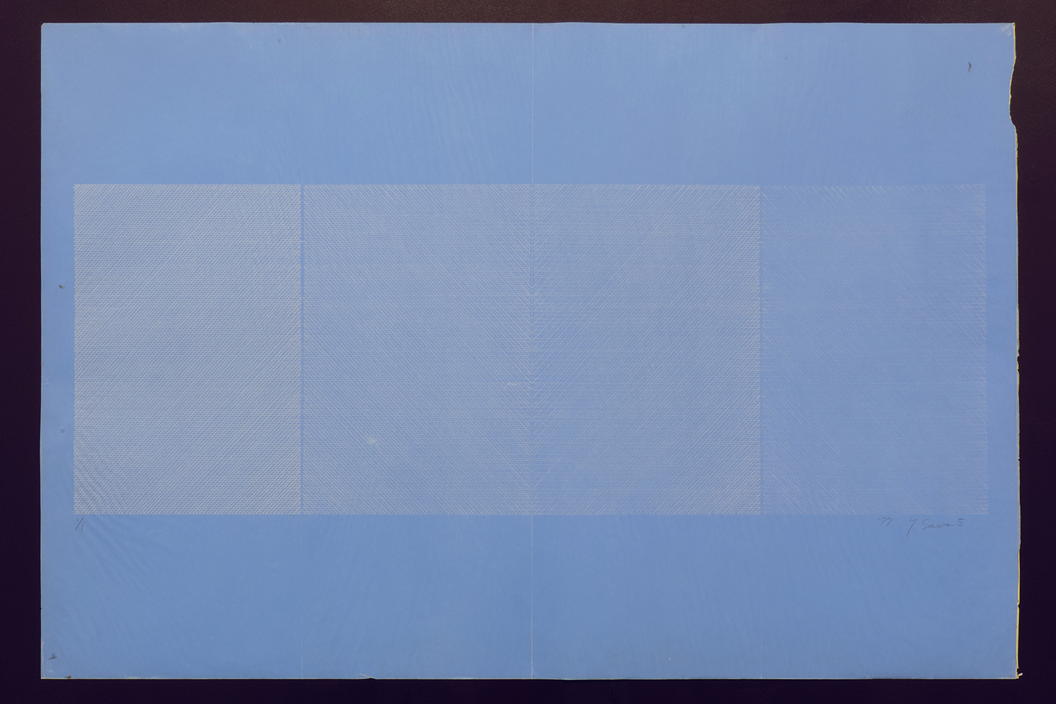 Carbon-Work|Blueprint paper, Carbon|60 x 90 cm|1977