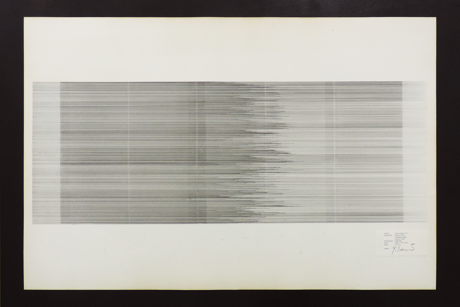 Line-Work C-1|Pencil (H2), Carbon, Baron Kent paper|63 x 96 cm|1977