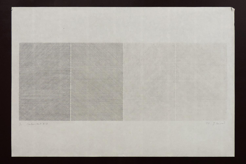 Carbon-Work II-6|Shoji paper, Carbon|60 x 90 cm|1977