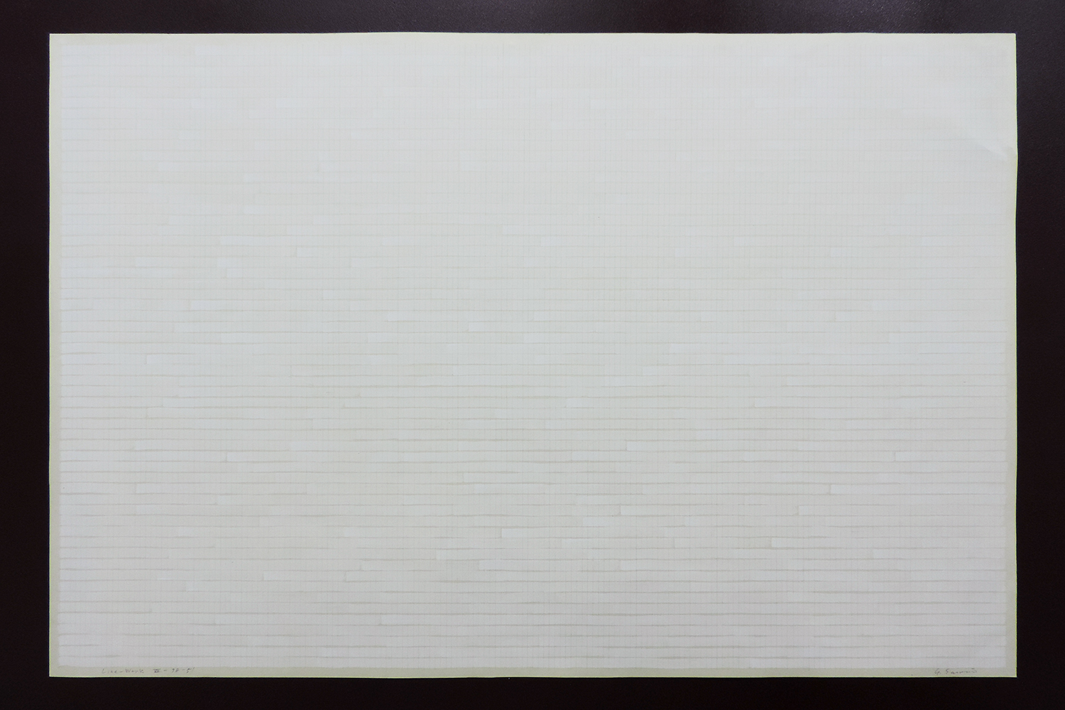 Line-Work VII-78-5' |Acrylic, Red pencil, Watson paper|60 x 90 cm|1978