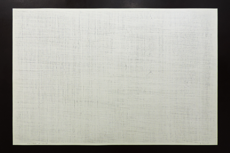 Line-Work VII-78-2|Cutter knife line, Pastel, Kent paper|60 x 90 cm|1978