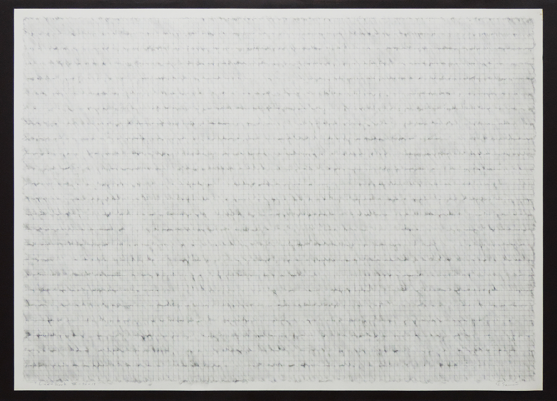 Line-Work VIV-80-13|Cutter knife line, Pastel, Kent paper|76 x 105 cm|1980