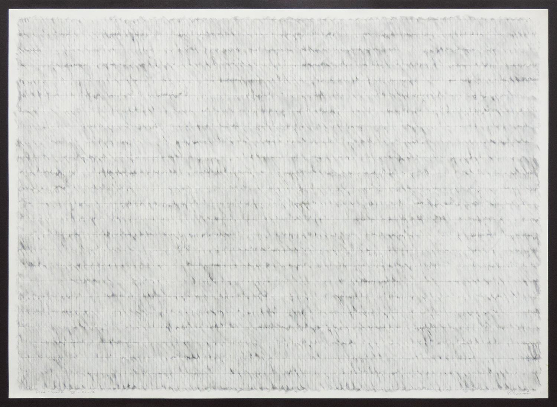 Line-Work VIV-80-12|Cutter knife line, Pastel, Kent pape|76 x 105 cm|1980