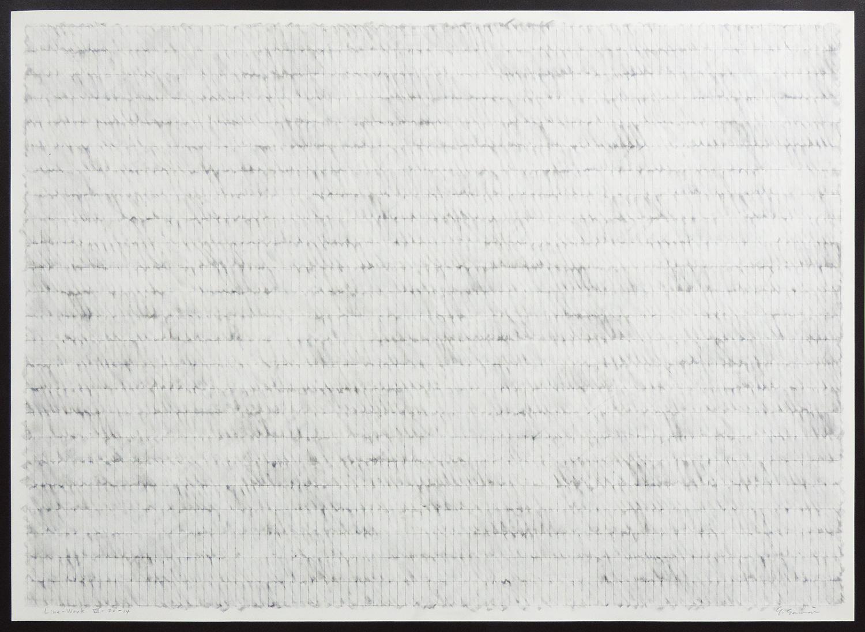 Line-Work VIV-80-14|Cutter knife line, Pastel, Kent pape|76 x 105 cm|1980
