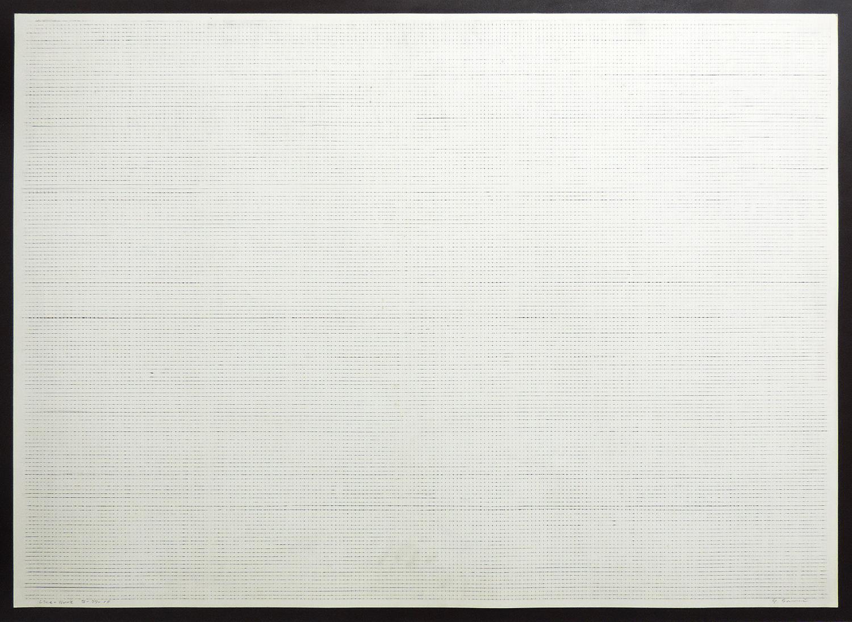 Line-Work IV-77-10|Cutter knife line|Pastel, Kent pape|76 x 105 cm|1977