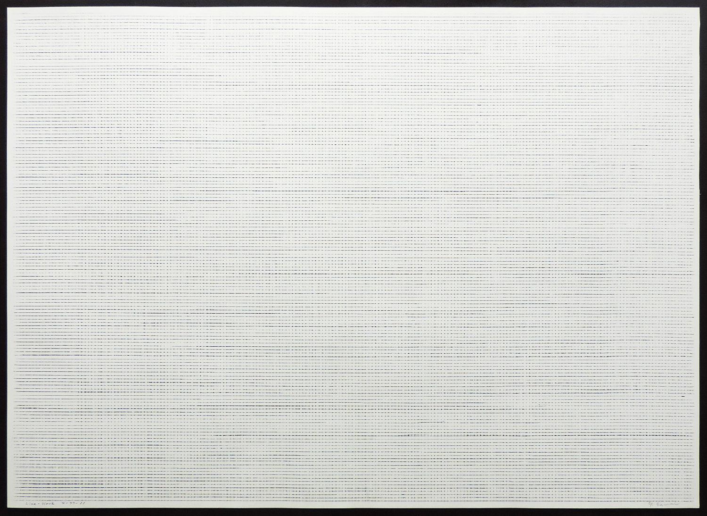Line-Work IV-77-11|Cutter knife line, Pastel, Kent pape|76 x 105 cm|1977