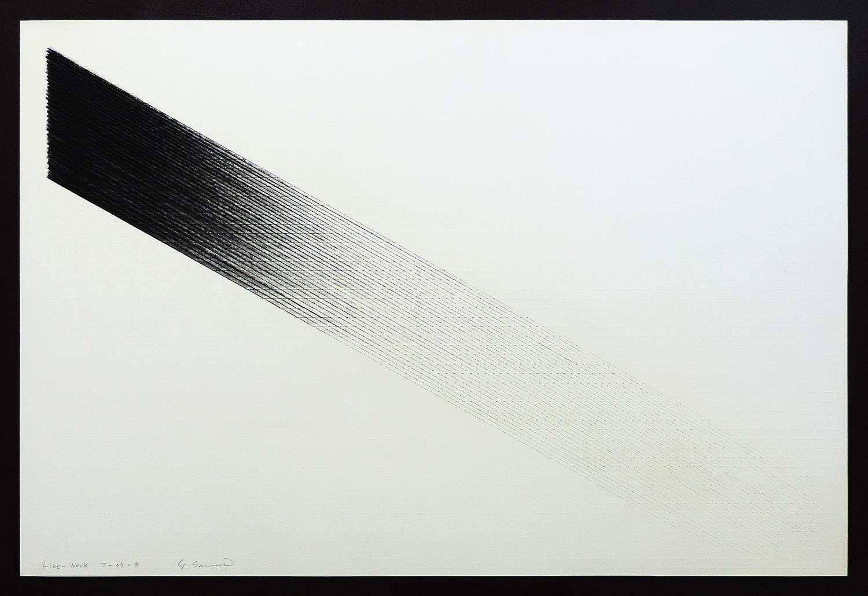 Line-Work V-79-8|Cutter knife line, Pastel, Kent pape|60 x 90 cm|1979