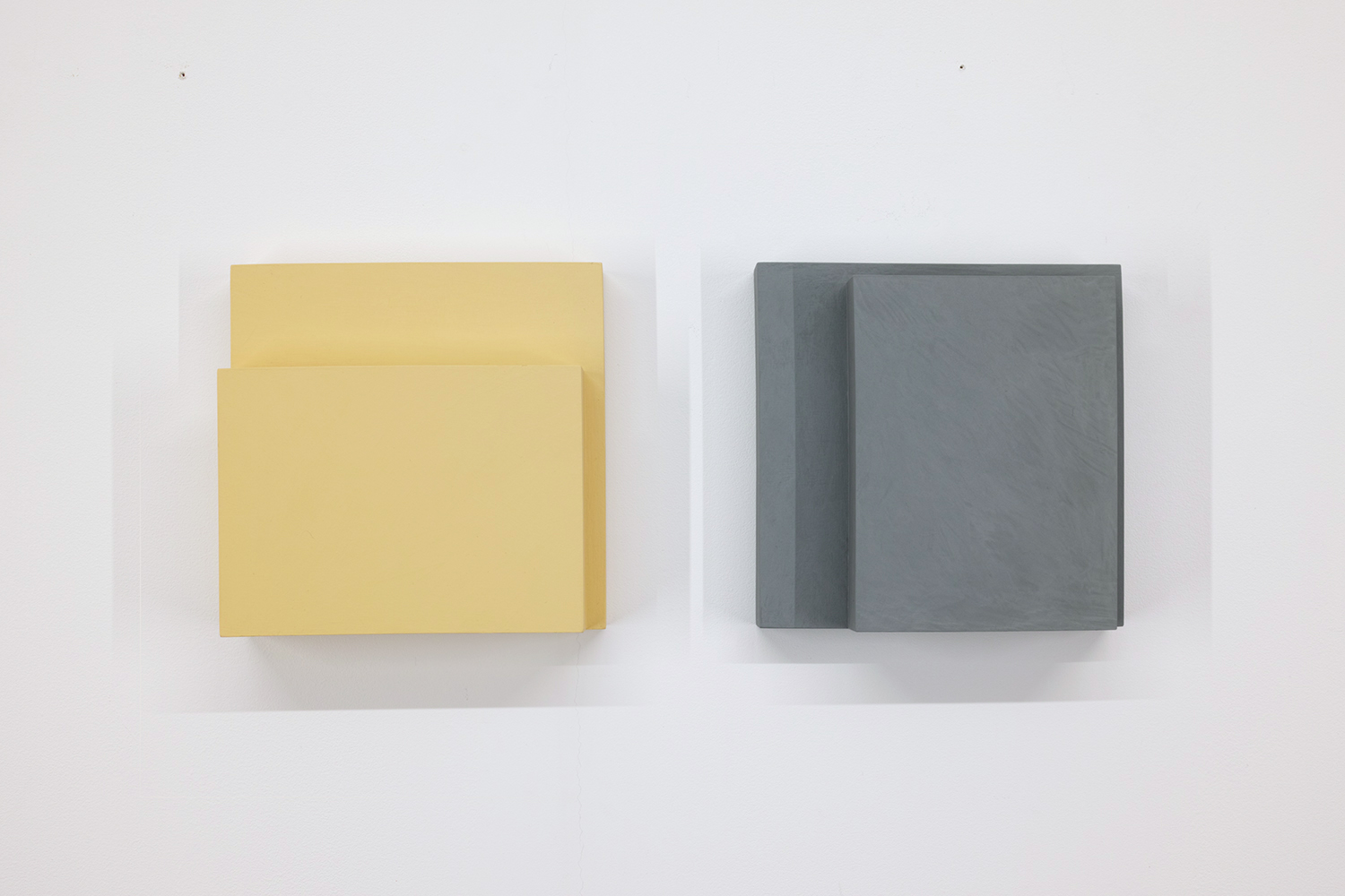TS170 /1705<br>Colour Gesso on Panel, 20 x 20 cm each (set of 2), 2017