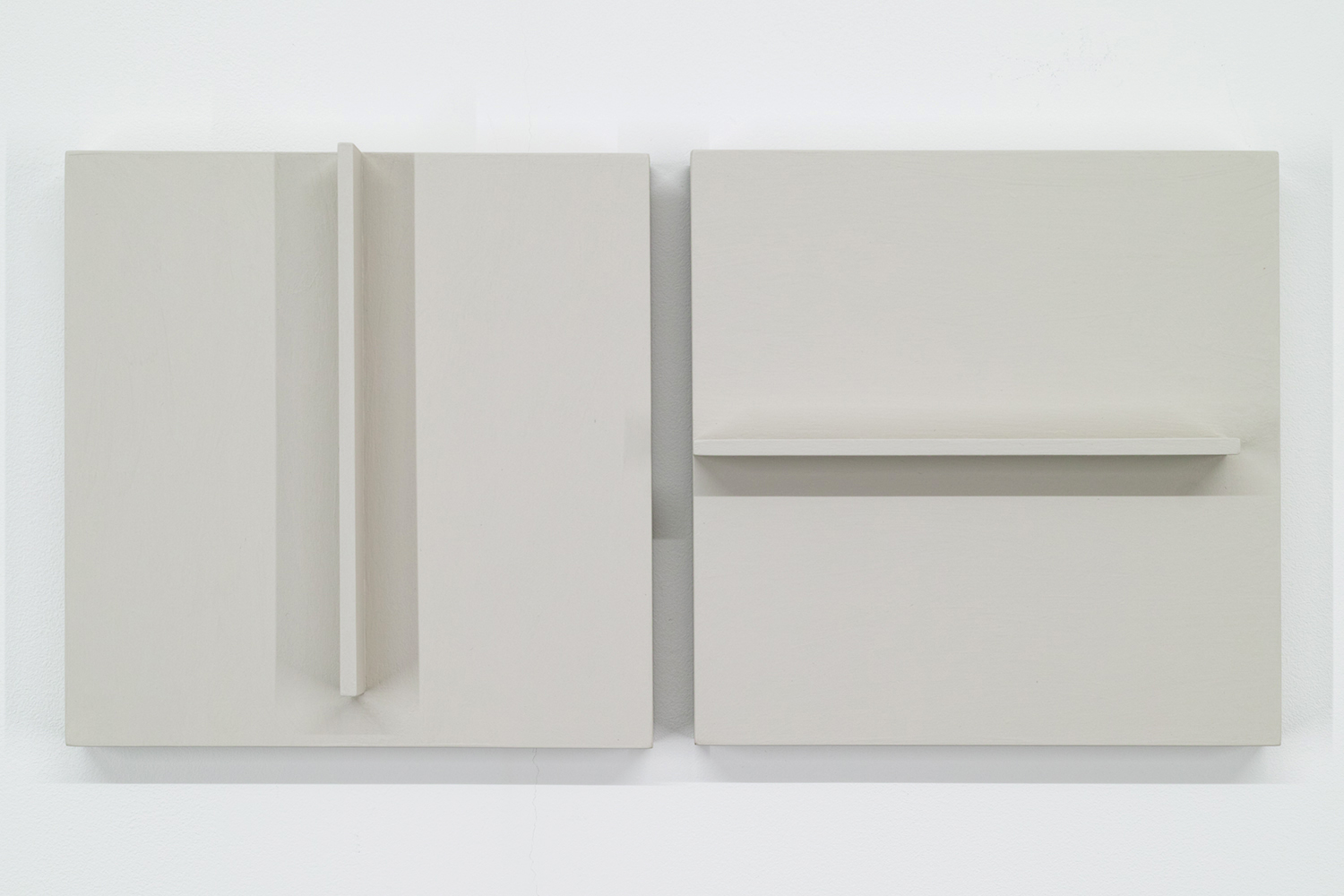 TS1713 A/B<br>Colour Gesso on Panel, 20 x 20 cm each (set of 2), 2017