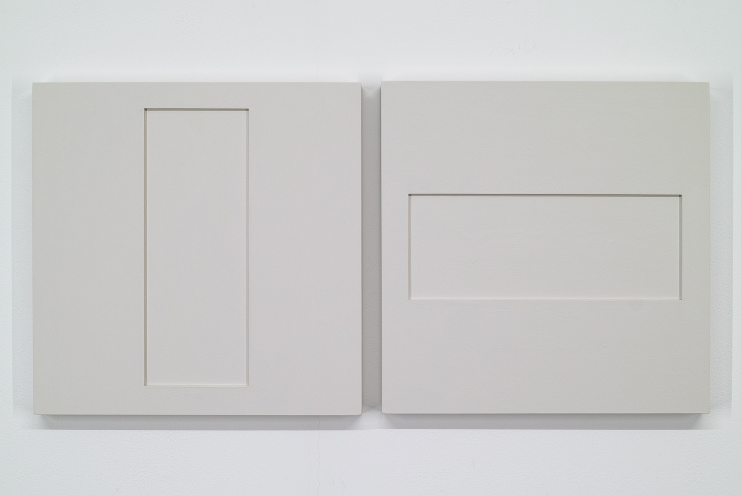 TS1714 A/B<br>Colour Gesso on Panel, 30 x 30 cm each (set of 2), 2017