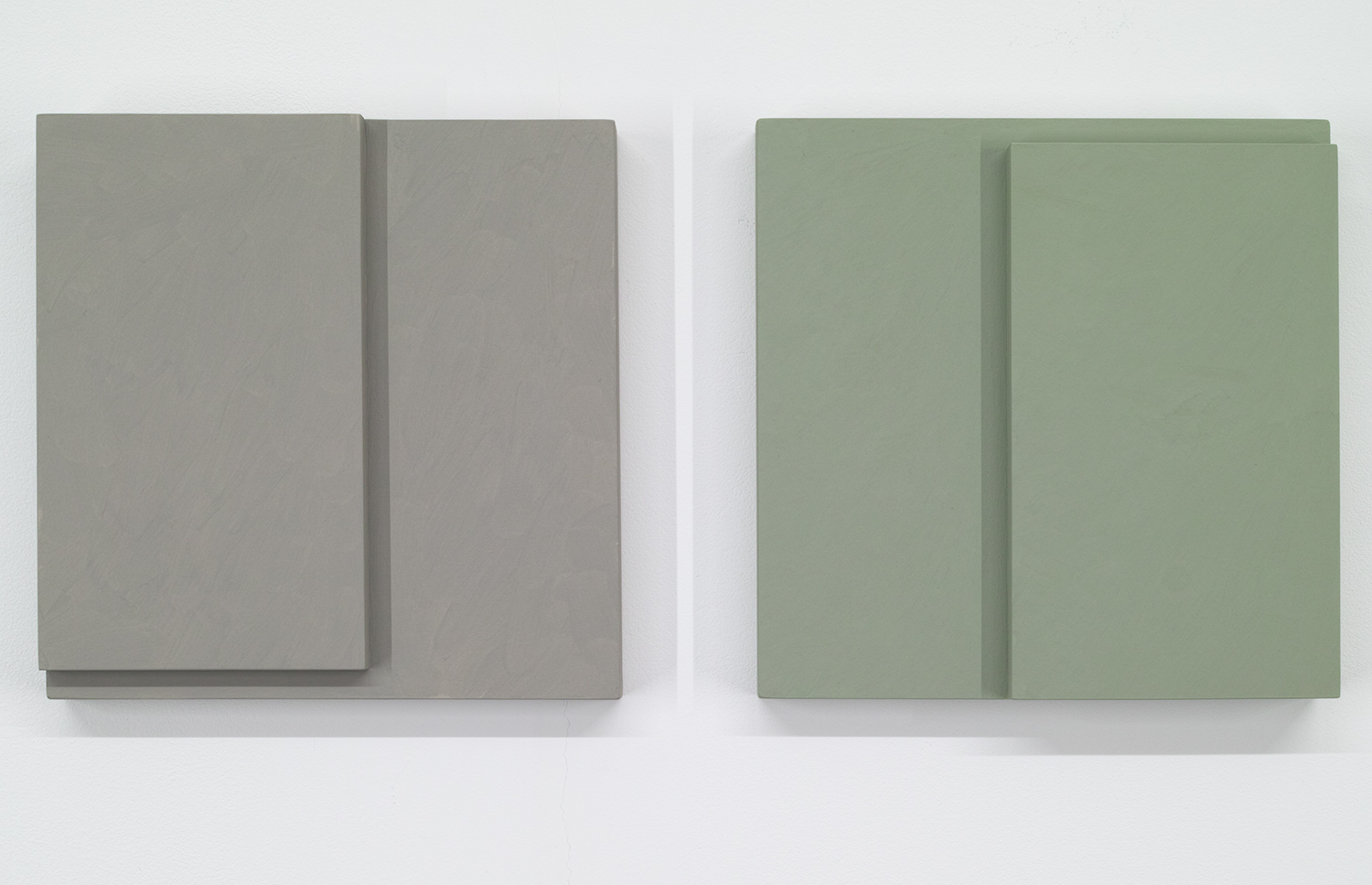 TS1717<br>Colour Gesso on Panel, 20 x 20 cm each (set of 2), 2017