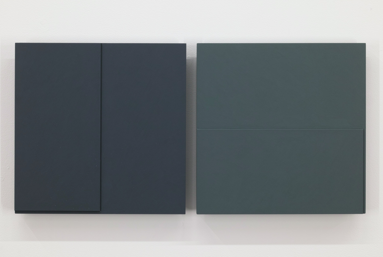 TS1721<br>Colour Gesso on Panel, 25 x 25 cm each (set of 2), 2017