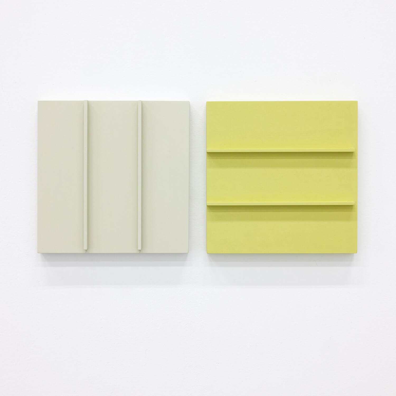 TS1716<br>Colour Gesso on Panel,  20x20cm each, 2017