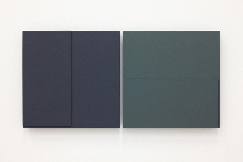 TS1721<br>Colour Gesso on Panel, a set of 2 pieces, 25x25cm each, 2017