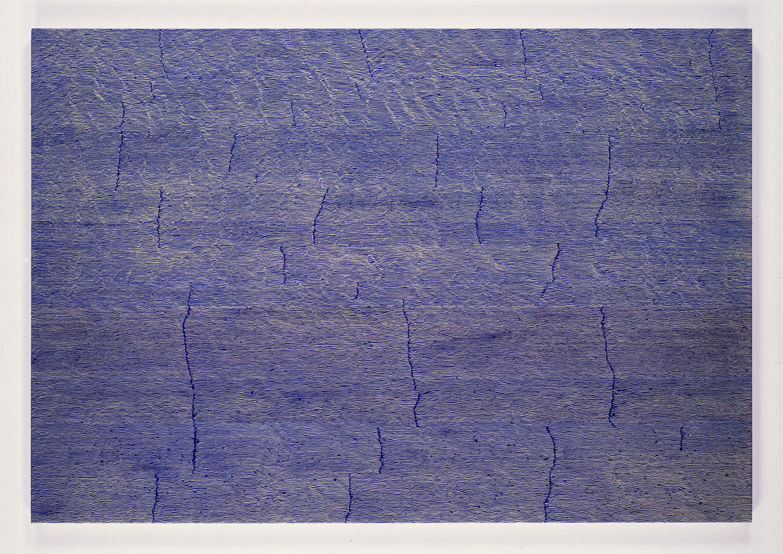 Trace2-Blue 103 x 150 cm 2000