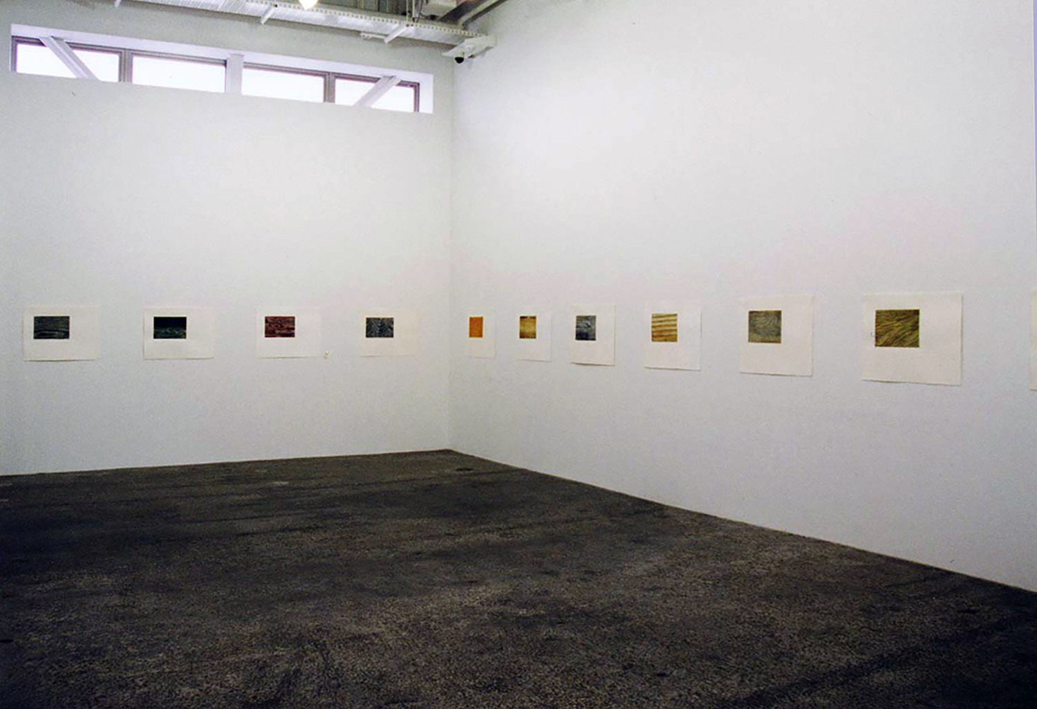 Installation View<br>Gallery Yamaguchi space<br>Untitled, pastel on paper 50 x 60 cm 2000 each :21 pieces