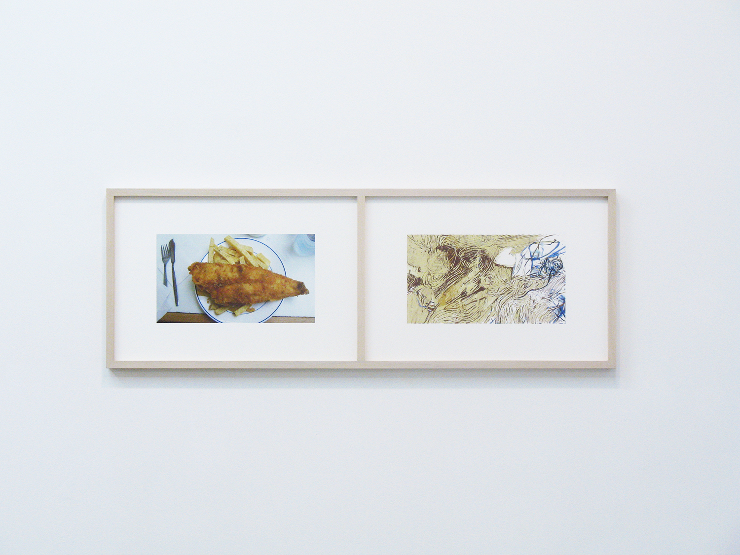 Fish & Chips<br>Inkjet print on Archived paper, 329 x 483 mm x 2, 2006